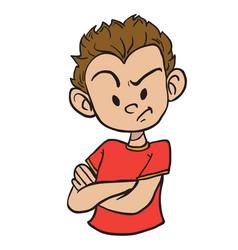 angry boy1 vector image
