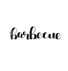 Barbecue Brush lettering vector image