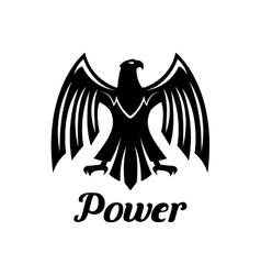 Black Eagle heraldic gothic icon vector image vector image