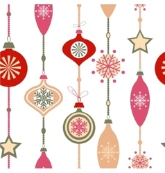 Christmas decorations on white vector image