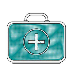 Color blurred stripe of first aid kit with symbol vector