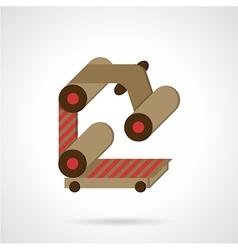 Conveyor element flat color icon vector