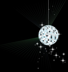 disco sphere vector image