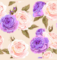 English roses seamless vector