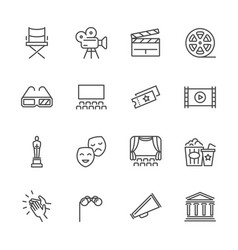 Entertainment and performance line icons vector