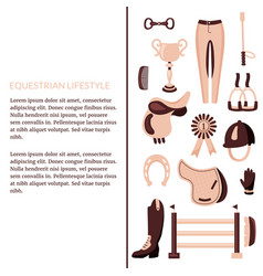 equestrian article vector image