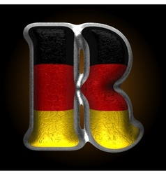 Germany metal figure r vector image vector image
