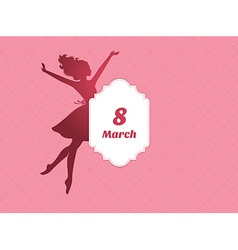 Happy Women Day background vector image vector image