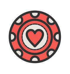 Heart chip vector