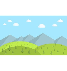 Landscape nature vector image