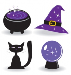 magic icons vector image vector image