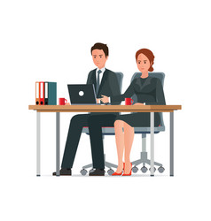 office people work in office vector image