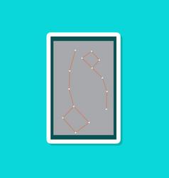 Paper sticker on stylish background constellation vector
