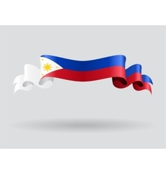 Philippines wavy flag vector image