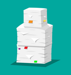 pile of papers office documents heap vector image vector image