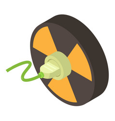 Radiation icon isometric style vector
