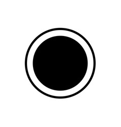 Rec music player button linear icon vector