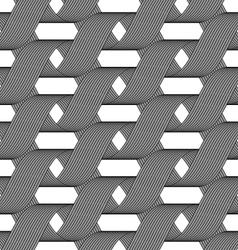 Ribbons forming horizontal overlapping loops vector image vector image