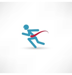 Running fast vector image vector image