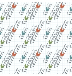 seamless pattern of arrows on graph paper vector image vector image