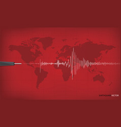 seismic activity graph showing an earthquake on vector image