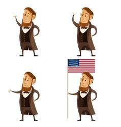 Set of lincoln presidents vector