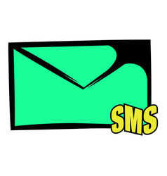 Sms icon icon cartoon vector