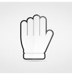 Stop hand vector