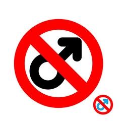 Stop men It is forbidden to be man Frozen male vector image