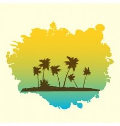 tropical on splash vector image vector image