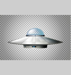 Ufo design with glass dome vector