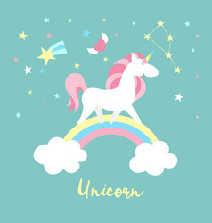 unicorn character set cute magic collection with vector image vector image