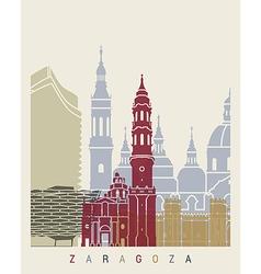 Zaragoza skyline poster vector image vector image
