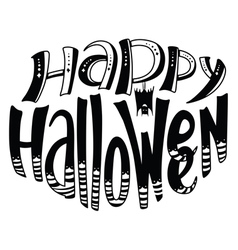 Happy halloween lettering composition vector