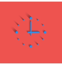 Clock logo modern idea interval time icon red vector