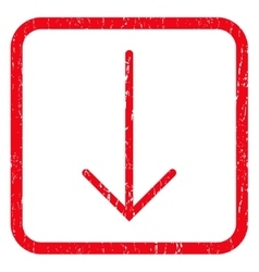 Arrow Down Icon Rubber Stamp vector image