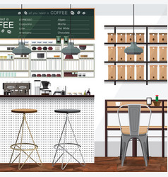Tea and coffee shop business vector