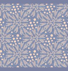dandelion polka dot seamless pattern vector image