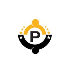 Success life coaching initial p vector