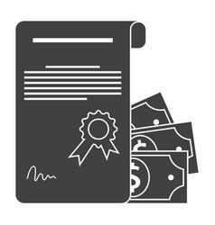 Scientific grant icon vector