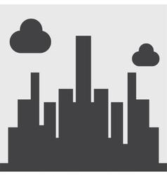 city silhouette icon vector image