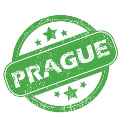 Prague green stamp vector