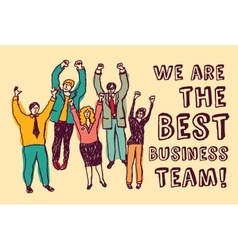 Best business team happy workers color vector