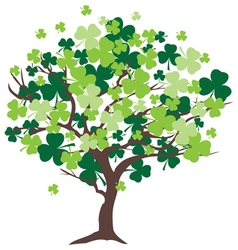 Shamrock tree vector