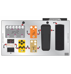 Guitar pedal board vector