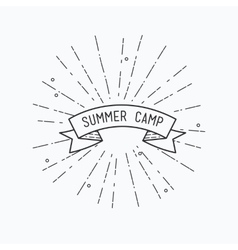 Summer camp inspirational vector