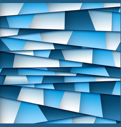 Abstract blue paper background vector