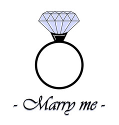 an with a diamond ring vector image