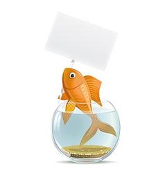 Aquarium fish blank vector image vector image