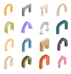 Arch set icons vector image vector image